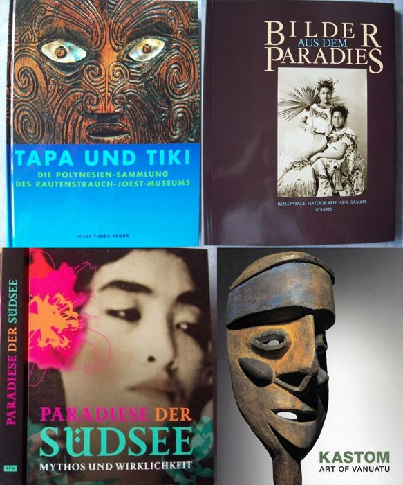 Lot with 4 books on Oceanian art and culture