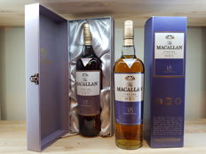 2 bottles - The Macallan 17 yeas old and 18 years old