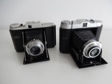 Solida Record B (including bag) & Adox folding cameras