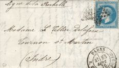 France 1870 - Balloon post The Victor Hugo with its reply to a delivery attempt by the courier - Signed Roumet. Certificate. Yvert 29