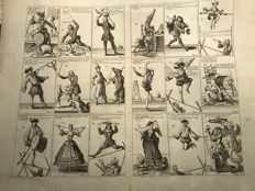 Cartoons about Louis Dominique 1693 - 1721 Brigands ennemi public N° 1 (18 cards from A to S.)