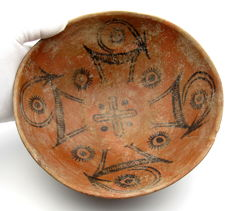 Indus Valley Painted Terracotta Bowl depicting Deer -  202 x 90 mm