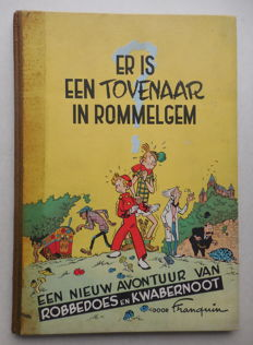 Robbedoes en Kwabbernoot 2 - Er is een tovenaar in Rommelgem - hc - 1e druk (1951)