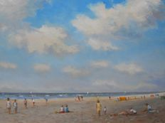 L. van Vugt (1952-) - Beach view