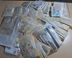World - Sorting batch in a box with envelopes, bags, cards and packages