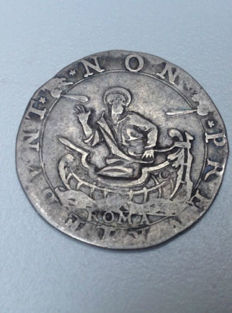 Papal States – Testone, Pope Clement VIII – 1592/1605 – Silver