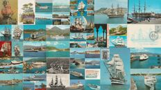 NAVY - Lot of 38 postcards - Italian ships (steamships, ferries, sailing ships)