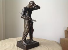 H. Chargeboeuf. - bronze sculpture ' Rude Labeur' - France - dated 1904