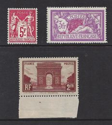 France 1925/1930 - 3 different sets - Yvert n° 216, 240 and 258