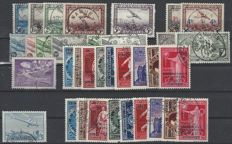 Belgium - airmail stamps, OBP numbers PA1 to PA35, complete with OBP numbers PA10A and PA11A