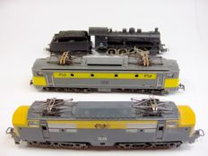 Lima and Fleischmann H0 - Various numbers - a lot with 3 NS locomotives, 2 electric and 1 steam