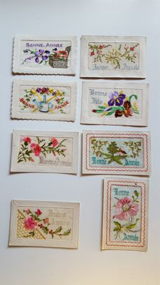 Lot of 192 postcards, Happy New Year, Merry Christmas, and holidays.