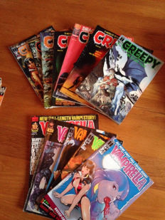 Vampirella and Creepy collection - 12x sc - 1st printing (1978/1993)