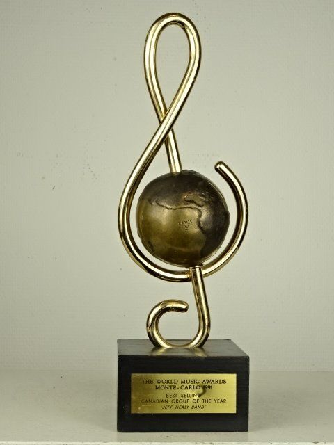World Music Awards 1991 Jeff Healy Band Bronze Trophy