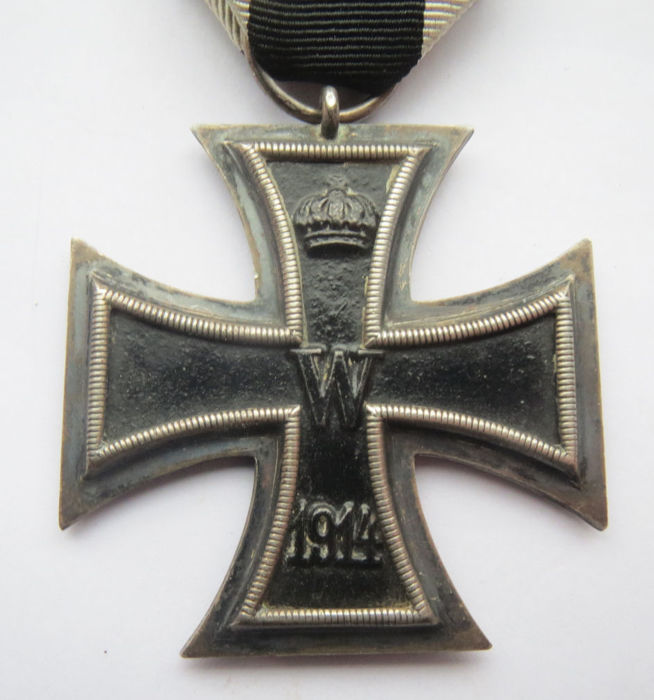 "German original medal: Iron Cross 2nd class by the maker ""Unknown Maker"" - WW1"
