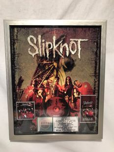 Slipknot 'Slipknot' and Home Video 'Welcome to our Neighborhood' Platinum Sales Award. Road Runner Records RIAA