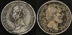 The Netherlands - 10 cent 1849 Willem II and Willem III - silver