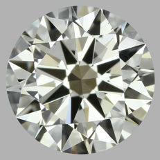 Round Brilliant Diamond 0.50 Carat , H VS1 Cert: EGL USA #171 -original image