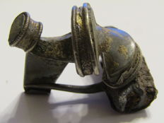 Roman Silver Fibulae with Rest of Gold -  38mm/36mm; 26,3g