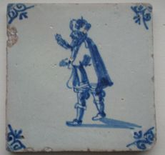Antique tile with a figure, special image of a king
