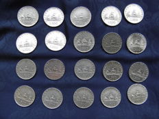 """Republic of Italy - 500 Lira """"Caravelle"""", 1958, 1959, 1960 and 1961 - silver"""