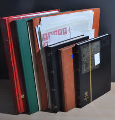 The Netherlands and Overseas - Batch including classics, sheets and sheet parts in stock books and a folder