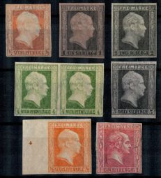 Prussia - 1850-1858 - King - Michel 2017 between no. 1 and 26
