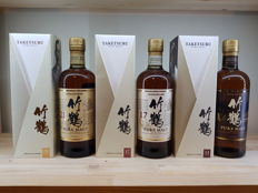 3 bottles - Nikka Taketsuru 12, 17 and 21 years old