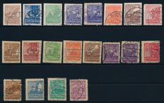 """Western Pomerania - 1946 - """"so-called farewell series"""" - Michel 29 - 40 in both paper types """"x"""" and """"y"""""""