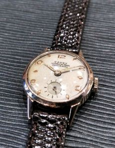 Cauny Prima, 18 kt gold, women's watch - 1950s