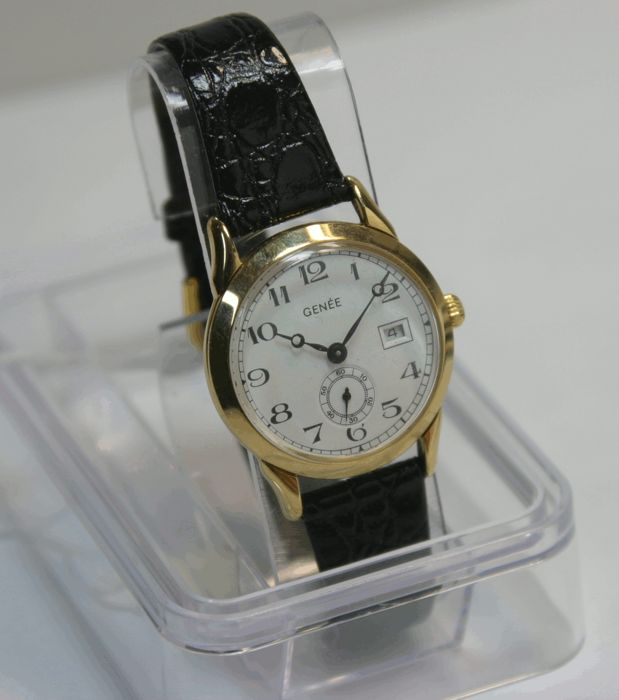 Genee mechanical Glasboden - women's wristwatch - 90s unworn
