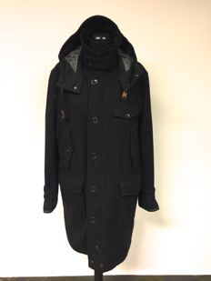 Woolrich - wool coat with hood