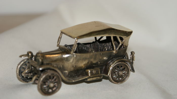 Silver miniature car, Italy, half of 20th century