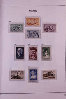 France 1950/1969 - Nearly complete collection in Davo LX preprint album with crystal pages