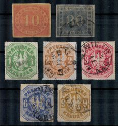 Prussia 1866/1867 - office service/coat of arms - Michel 2017 no. 20 - 26