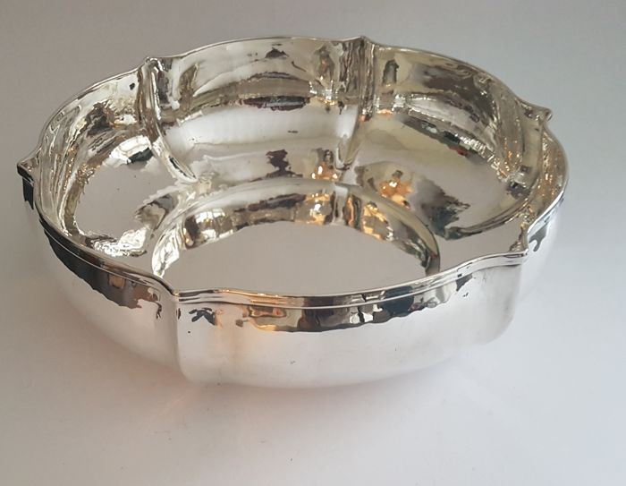 Large silver dish - Italy