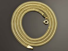 18K Gold Necklace. Chain - 50 cm. Weight 3.45 g. No reserve price.