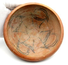 Indus Valley Painted Terracotta Bowl depicting Deer -  146 x 53 mm