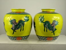 Two porcelain vases - China - Republic period (1912-1949)