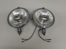 A Pair of Chrome 1970's Lucas FT / LR 10 / 11  Fog Lights in Excellent Used Vintage Condition