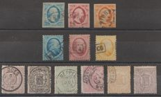 The Netherlands 1852/1871 - King Willem III and National coat of arms - NVPH 1/3, 4/6B, 13/18