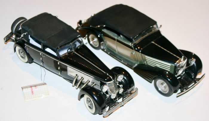 2 Franklin Mint 124 Scale Maybach Zeppelin 1939 Duesenberg