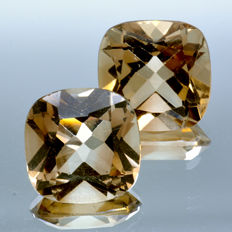 2 Champagne Topaz - 9.11 ct. - No Reserve Price
