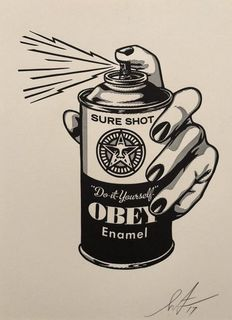 Shepard Fairey (OBEY) - Sure Shot Letterpress