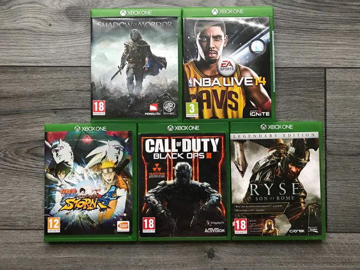 lot off 5 Xbox one games  Like Naruto shippuden ultimate ninja storm 4 +  Ryse, Son of Rome and more - Catawiki