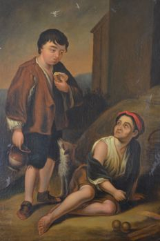 After Bartolome Estaban Murillo (19th century) - Two peasant boys