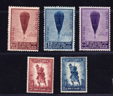 Belgium 1932 - Scientific Research SG621/623 and  Infantry Memorial SG618/619