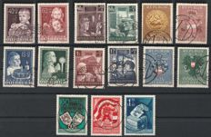 Austria 1949/1951 - 4 sets childhood, repatriates, Carinthian referendum and reconstruction II - ANK no. 941-44 , 949-52 ,964-66 , 977-80