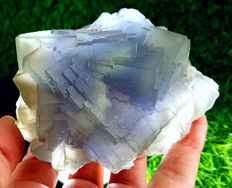 Aeathetic Pale Blue Color Translucent Fluorite Specimen - 100 x 76 x 54 mm - 548 gm