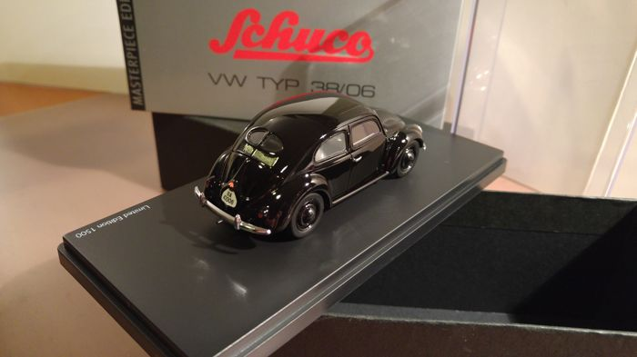 Schuco - Scale 1/43 - Lot with 3 models: VW Type 38/06 1938 Split Window - Black, VW Beetle Eight Ball 2013 - Black & VW up! - Blue